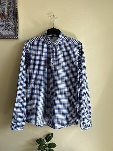 Сорочка в клітинку, мужская рубашка в клетку, S размер