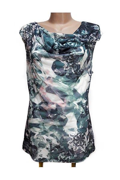 Длинная футболка-блузка с малахитами H&M