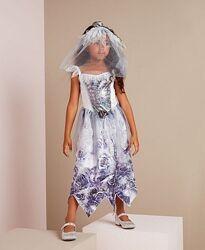 Костюм платье- невеста зомби на хэллоуин George р.110,116,122,128,146,152