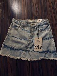 Новая джинсовая юбка Зара 5-7 лет