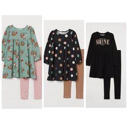 Комплект-Двойка для девочки h&m сша платье лосины