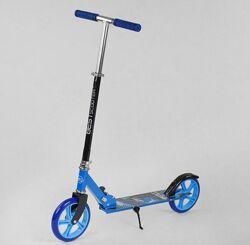 Самокат Best Scooter 63629 DRAGON Голубой, колеса PU, d - 20см