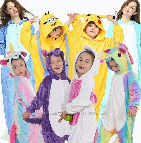 Оригинал Кигуруми для детей и взрослых. Кегуруми кенгуруми единорог слип