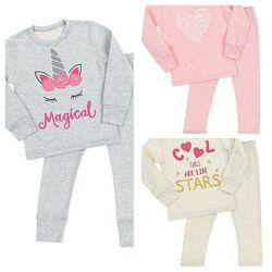 Пижама детская для девочки р.92-152 комплект для девочек реглан штаны