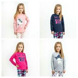 Пижама детская для девочки на р.92-152 комплект для девочек реглан штаны