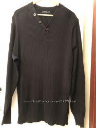 Мужской черный свитер George большого размера