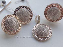 серебро  з золотыми пластинами