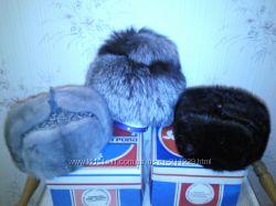 Шапки меховые чернобурка, шиншила, норка, шляпы