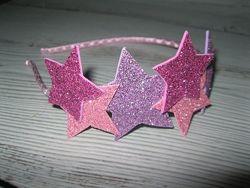 Обруч з зірочками,  ободок-звездочки - колір на вибір