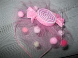 Обруч - цукерочка, хлопавка, ободок - конфетка , хлопушка