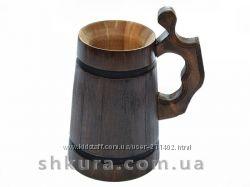 Деревянные пивные бокалы, кружки для пива