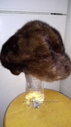 Норковый берет-кепи
