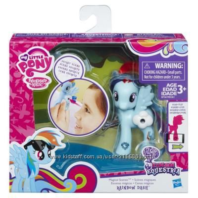 My Little Pony Rainbow Dash с волшебными картинками B7267 Рейнбоу даш деш