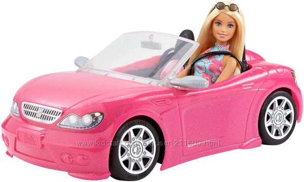 Barbie Кукла и ее гламурный кабриолет Barbie Glam Convertible