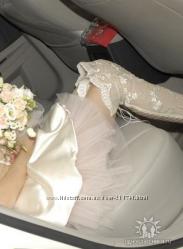 Свадебные ажурные сапоги-ботфорты