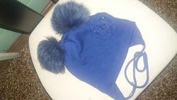 Зимние шапки для девочек 6-10лет
