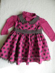 Продам нарядное платье с  гольфиком  Baby club C&A  р. 74
