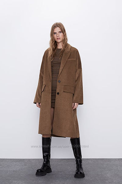 новое пальто ОВЕРСАЙЗ ZARA  M размер.
