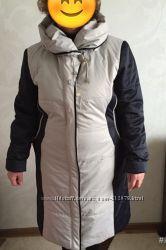 Демисезонное пальто-плащ р-р 52-54