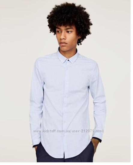 Мужская рубашка Zara, размер S, slim fit