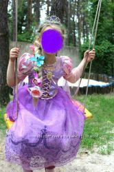 Платье Рапунцель на прокат 4-5 лет