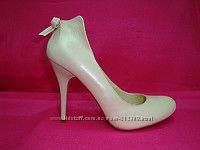 Свадебные кожаные эффектные туфли
