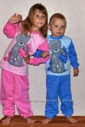 Пижама байка с начёсом мальчик, девочка