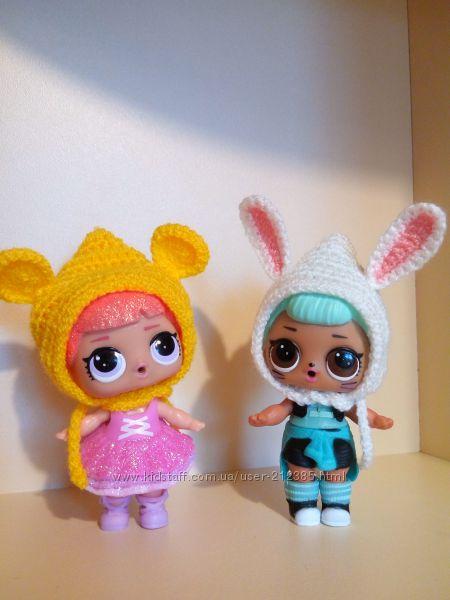 Веселые шапочки для кукол Lol surprise