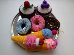 Мороженое, пирожное, пончики и другие вкусняшки для кукол
