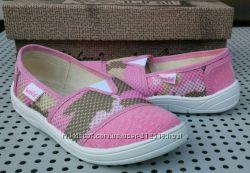 Туфли текстильные для девочки Waldi с кожаной стелькой