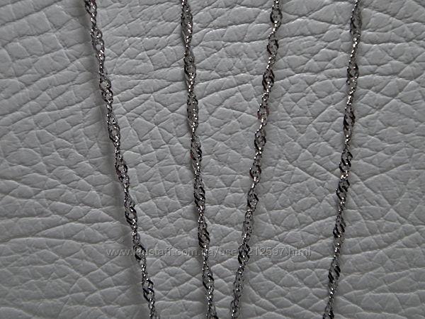 Родированная серебряная цепь 40см