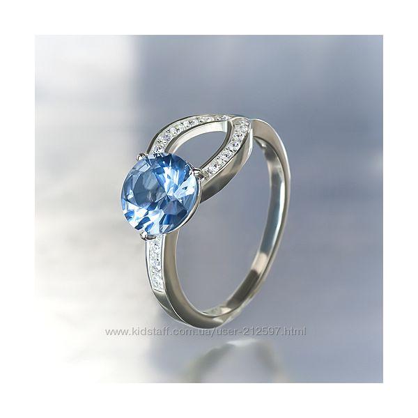 Серебряное кольцо с цирконием р. 17