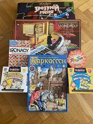 Наши настольные игры для детей от 5 лет. есть на укр. языке