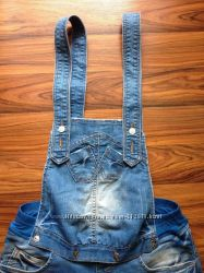 Летний джинсовый комбинезон
