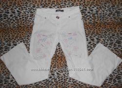 Стильные белые женские штаны брюки стретч тянутся светлые Soff Jeans