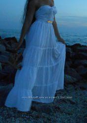 Летний Сарафан Платье макси длинное в пол натуральный хлопок