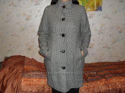 Клетчатое пальто тренд сезона осень-весна бэби-дойл  ТМ MARIE CLAIRE