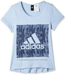Хлопковая футболка для девочки Adidas, 110 рост. Оригинал.