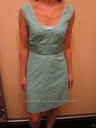 брендовое платье SELA 42р бирюзовое одето пару раз