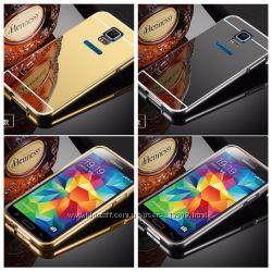 Чехол зеркальный алюминиевый Samsung J3J5J7 201520162017