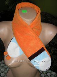 Флисовый шарф лисичка подарок перчатки
