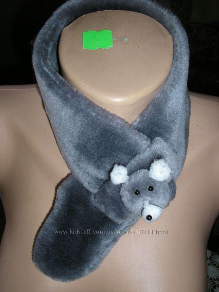 Двойной флисовый шарф мышка