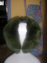 Новый большой меховой воротник. Натуральный мех писец на пуховик или пальто