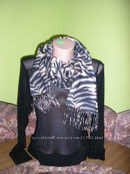 Новый флисовый шарф с тигровым принтом