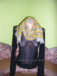 Новый теплый шарф с ангоровой ниткой