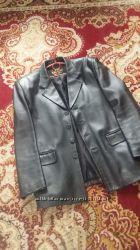 Новая кожаная куртка пиджак. Мужская
