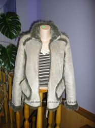 Фірмова дубленка куртка штучне хутро з довгим ворсом