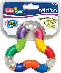 Игрушка-погремушка Твистер BabyBaby 73635