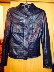 Куртка темно-синяя натуральная кожа