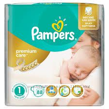 Дешево Pampers premium care 1 newborn 2-5кг